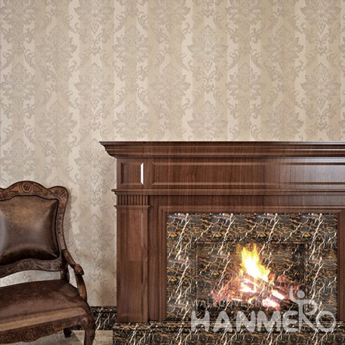 HANMERO PVC European Floral Embossed Wallpaper For Bedding Room