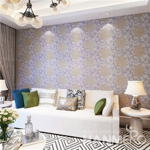 HANMERO Gorgeous Floral Vinyl Damascus Wallpaper