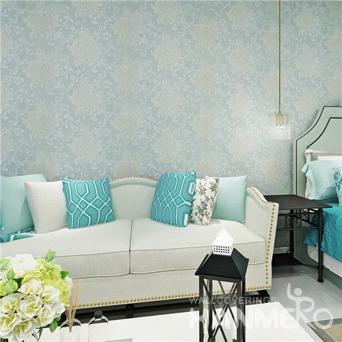 Embossed Waterproof Damask PVC Wallpaper for Bedroom