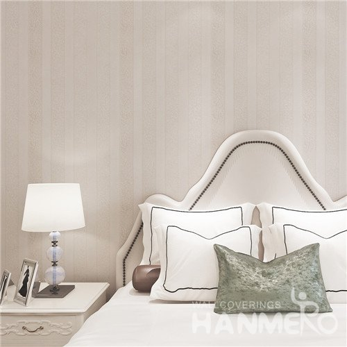 HANMERO Modern Stripe Light Color PVC Embossed Wallpaper For Bedroom