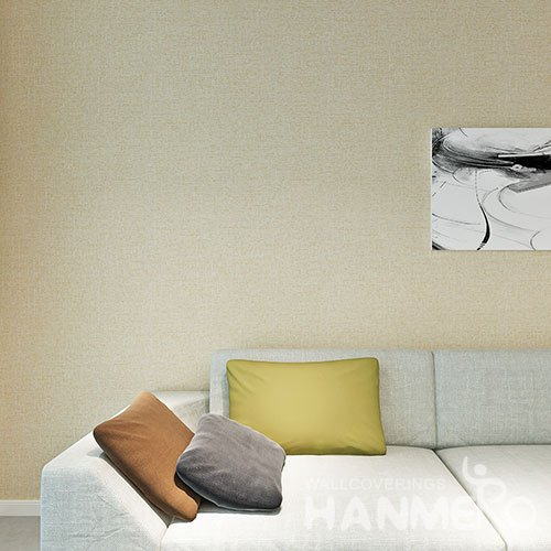 HANMERO Solid Color PVC Embossed Modern Removable Wallpaper For Wall