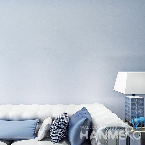 HANMERO Simple Pure Grey Color Embossed PVC Wallpaper Without Pattern