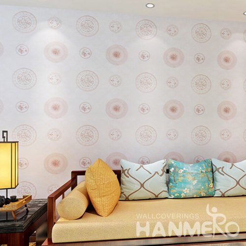 HANMERO Contemporary Chinese Style PVC Embossed Wallpaper For Home