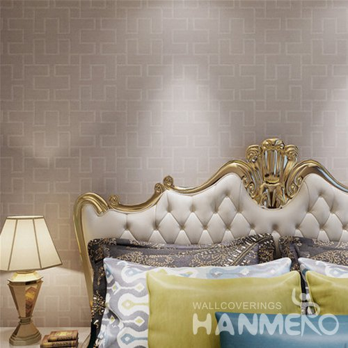 HANMERO Brown PVC Room Decorative Embossed PVC Wallpaper