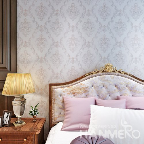 HANMERO PVC European Big Flower Wallpaper