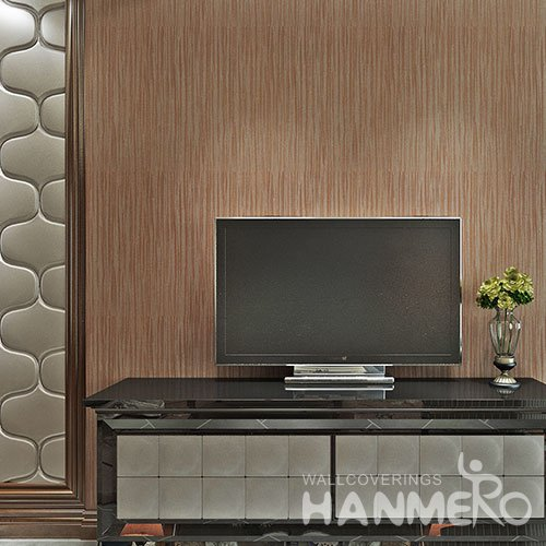 HANMERO Red Brown Modern Simple Wallpaper Embossed Solid Color PVC Wallpaper