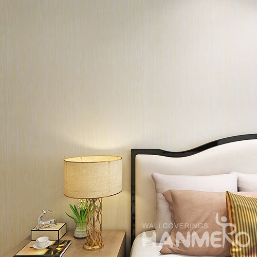 HANMERO Modern Solid Color Simple PVC Embossed Environmental Wallpaper