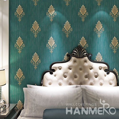 HANMERO Atrovirens PVC European Flowers Vinyl Embossed Eco Wallpaper