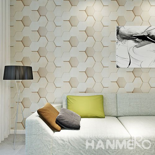 HANMERO Vinyl Geometric 3D Modern Living Room Wallpaper Decoration