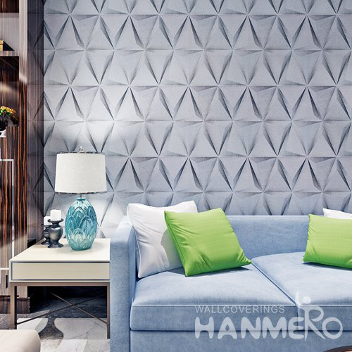 HANMERO Geometric 3D Triangle Black Grey Modern Wallpaper For Club
