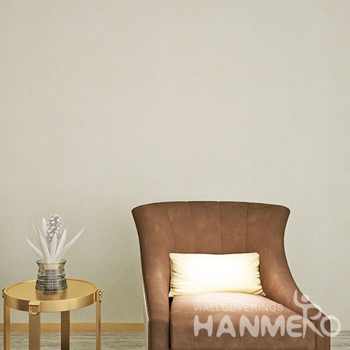 HANMERO Plain Color Beige PVC Waterproof Embossed Top Grade Wallpaper
