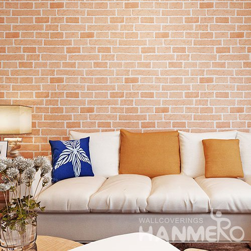 HANMERO Modern 3D Brick PVC Wallpaper With Embossed For TV Background
