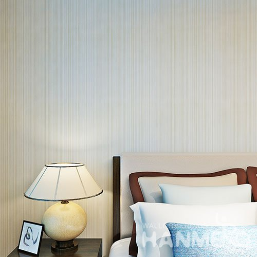 HANMERO Beige Color Thin Stripes Modern PVC Embossed Home Wallpaper