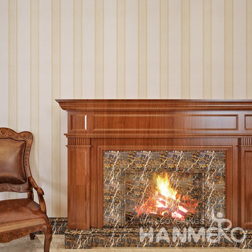 HANMERO Moderm Simple Gold Stripe Vinyl Decorative Wallpaper Embossed