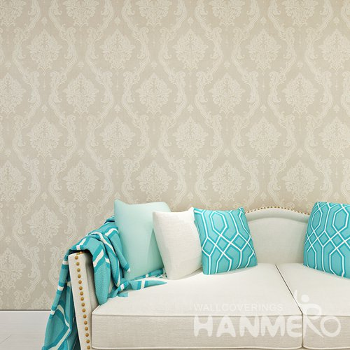 HANMERO European Gold Brown EMbossed Flower Strippable Wallpaper