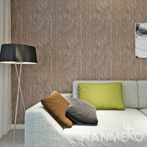 HANMERO Solid Brown Color PVC Modern Simple Wallpaper For Wall