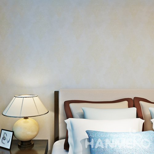 HANMERO European Floral PVC Mouldproof Durable Embossed Wallpaper