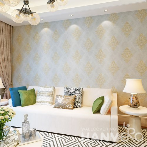 HANMERO Gold Flowers European Vinyl Wallpaper Embossed For Interior Room