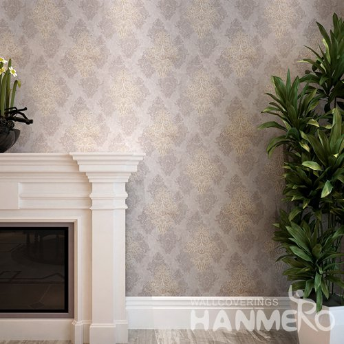 HANMERO Deep Brown Floral PVC European Waterproof Embossed Wallpaper