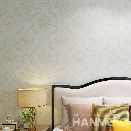 HANMERO Traditional European Big Flowers PVC Washable Wallpaper Embossed