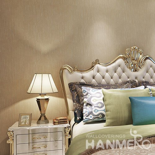 HANMERO Light Brown Modern Removable Plain Color Vinyl Wallpaper Embossed