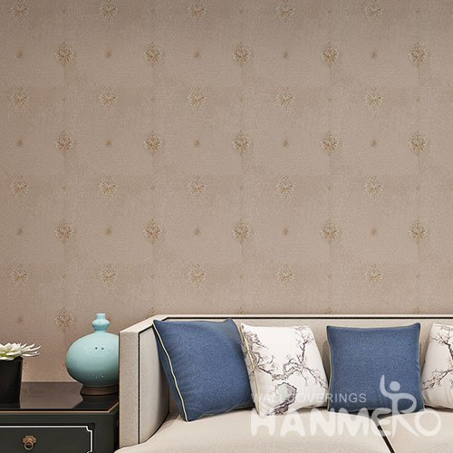 HANMERO European Flowers Design Brown Soundproof PVC Wallpaper