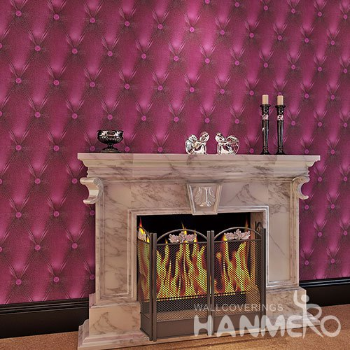 HANMERO 3D Red Sofa Patten PVC Modern Embossed Waterproof Wallpaper