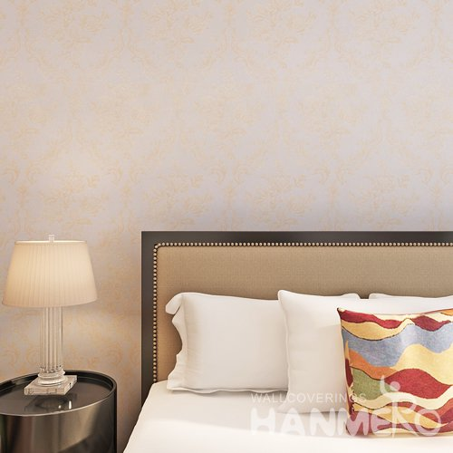 HANMERO European Champagne Gold European Flowers Embossed Affordable Wallpaper