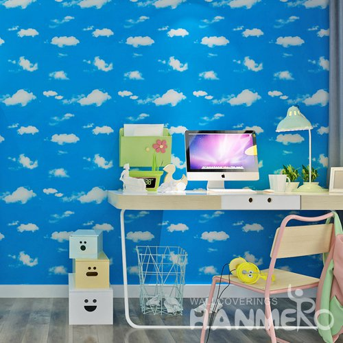 HANMERO Nature Modern Blue and Stick Wall paper Removable Stickers