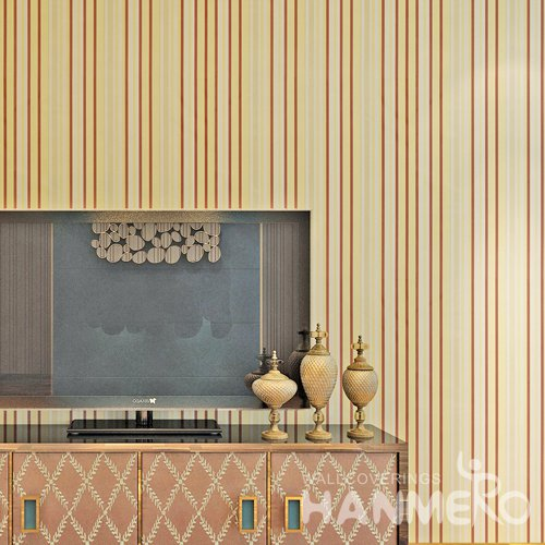 HANMERO Modern Stripes Yellow Peel and Stick Wall paper Removable Stickers