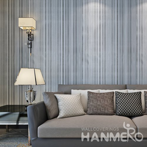 HANMERO Modern Stripe Black And White Peel and Stick Wall paper Removable Stickers