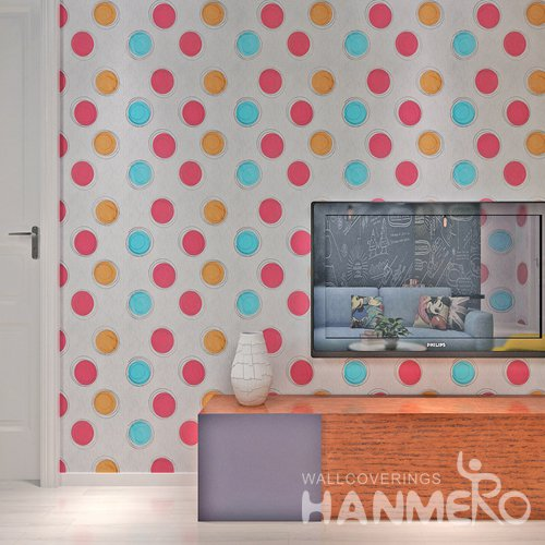 HANMERO Modern Spot White  Peel and Stick Wall paper Removable Stickers