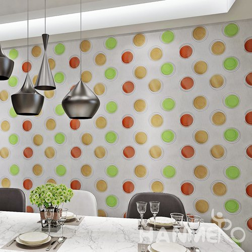 HANMERO Modern Spot Grey  Peel and Stick Wall paper Removable Stickers