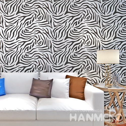 HANMERO Modern Stripe White And Black Peel and Stick Wall paper Removable Stickers