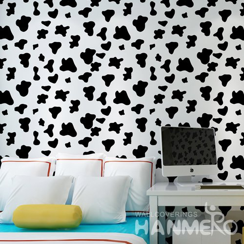 HANMERO Modern Spot White And Black Peel and Stick Wall paper Removable Stickers