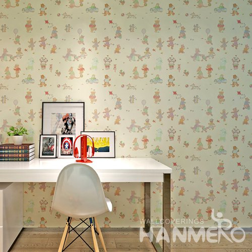 HANMERO Modsern Cartoon Yelow  Peel and Stick Wall paper Removable Stickers
