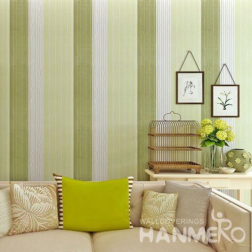 HANMERO Modern Stripe Green Peel and Stick Wall paper Removable Stickers