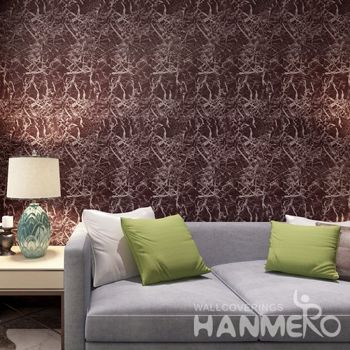 HANMERO Modern Red Peel and Stick Wall paper Removable Stickers