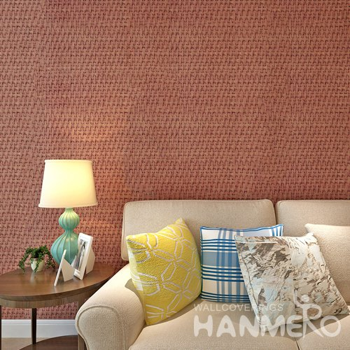 HANMERO Modern Woven Brown Peel and Stick Wall paper Removable Stickers