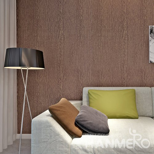 HANMERO Modern Solid Brown Peel and Stick Wall paper Removable Stickers