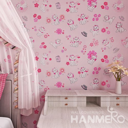 HANMERO Modern Cartoon Pink Peel and Stick Wallpaper Removable Stickers