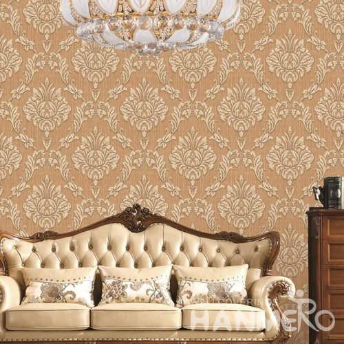 HANMERO European Orange Embossed Vinyl PVC Wallpaper Home Decor
