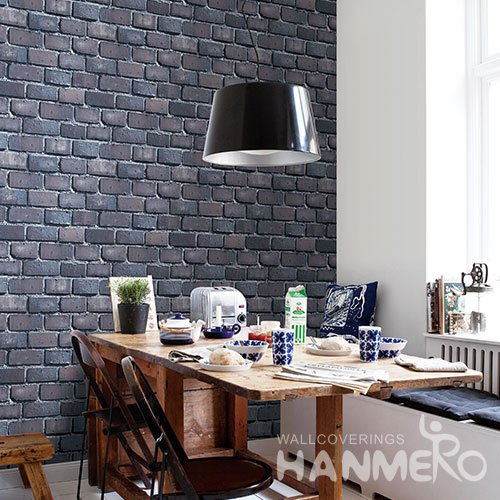 HANMERO Modern Gray Embossed Vinyl Wall Paper Murals 0.53*10M/roll Home Decor
