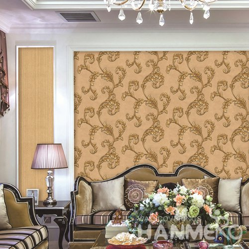HANMERO European Gold Embossed Vinyl PVC Wallpaper 1.06*15.6M/Roll Home Decor