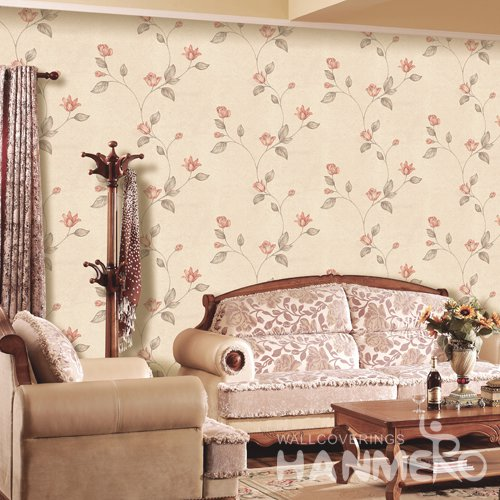 HANMERO Rural Orange Embossed Vinyl PVC Wallpaper 1.06*15.6M/Roll Home Decor