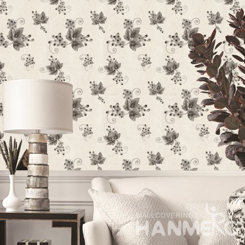 HANMERO Rural Grey Embossed Vinyl PVC Wallpaper 1.06*15.6M/Roll Home Decor