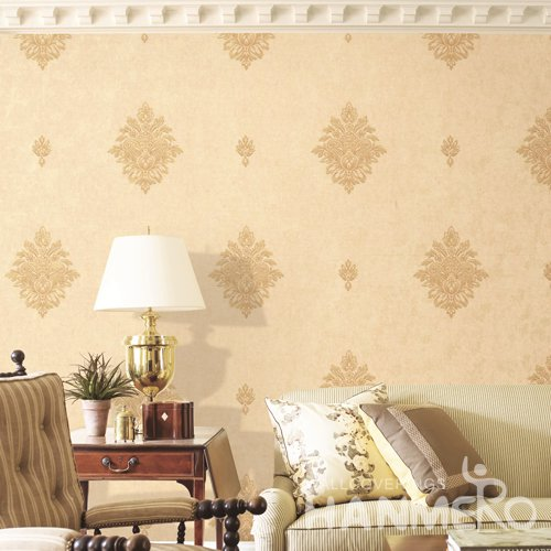 HANMERO European Brown Embossed Vinyl PVC Wallpaper 1.06*15.6M/Roll Home Decor