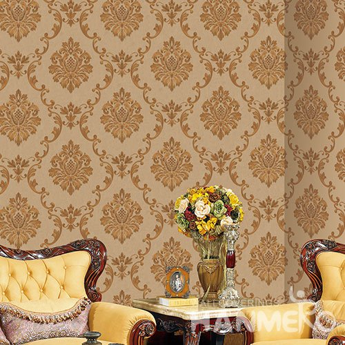 HANMERO Modern Tawny Embossed Vinyl Wall Paper Murals 0.53*10M/roll Home Decor