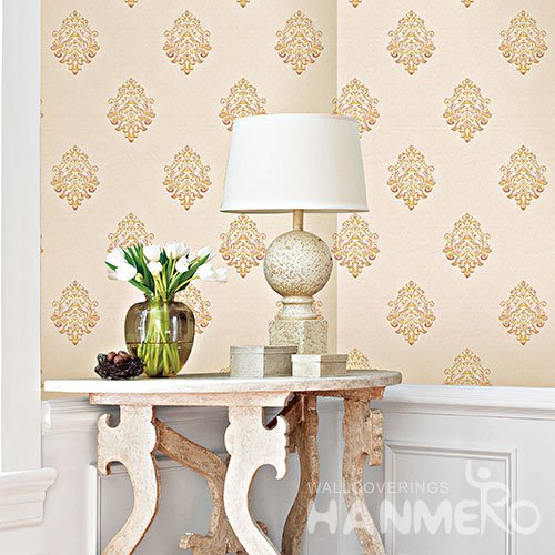 HANMERO Modern Buff Embossed Vinyl Wall Paper Murals 0.53*10M/roll Home Decor