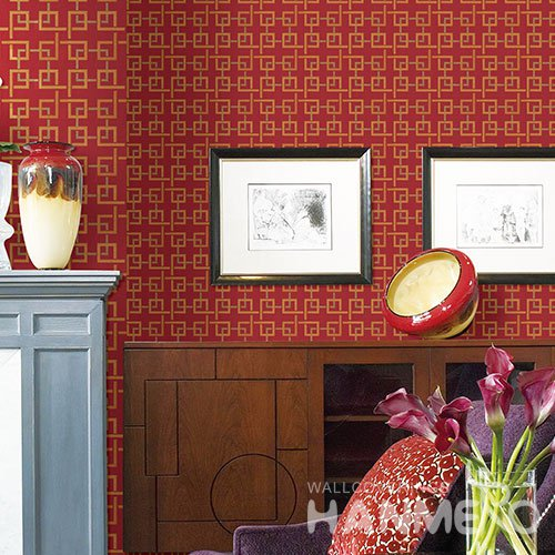 HANMERO Modern Red Embossed Vinyl WallPaper Murals 0.53*10M/roll Home Decor